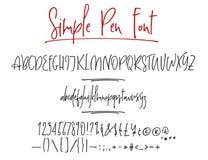 Alphabet de vecteur de lettrage de Ballpen Illustration de Vecteur