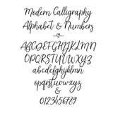 Alphabet de vecteur Lettres de brosse Police manuscrite Typographie de lettrage de main Image stock