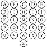 Alphabet de vecteur Lettres tirées par la main Lettres de l'alphabet écrit avec une brosse illustration de vecteur