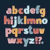Alphabet de vecteur Lettres tirées par la main Lettres de l'alphabet écrit avec une brosse illustration libre de droits