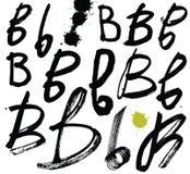 Lettres de l'alphabet écrit avec une brosse. Illustration Stock