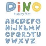 Alphabet de vecto de Dino Illustration de Vecteur