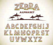 Alphabet de ZÈBRE Images stock