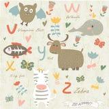 Alphabet de zoo Photos libres de droits