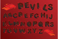 Alphabet demons letters Royalty Free Stock Photo