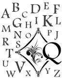 Alphabet der Großbuchstaben Stockbilder