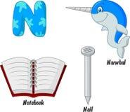 Alphabet der Karikatur N Stockbilder