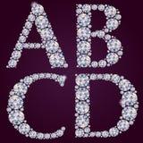 Alphabet des diamants ABCD Photo stock