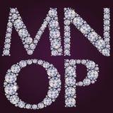Alphabet des diamants MNOP Photos libres de droits