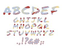 Alphabet illustration de vecteur