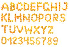 Alphabet des mandarines Images stock