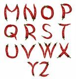 Alphabet des poivrons Image stock