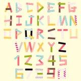 Alphabet des selbsthaftenden Kreppbandes Stockfoto