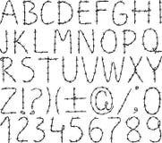 Alphabet des Stacheldrahts Stockbild