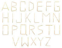 Alphabet des toothpicks Photo libre de droits