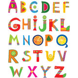 Alphabet design. In a colorful style Stock Photo