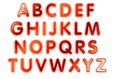 Alphabet design. On white background Stock Image