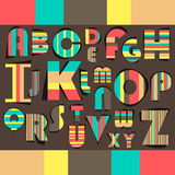 Alphabet design Royalty Free Stock Image