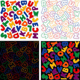 Alphabet Designs, four Versions Stock Photo