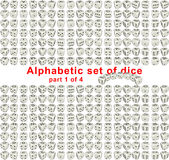 Alphabet dice. Part 1 of 4 Royalty Free Stock Image