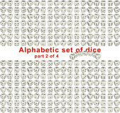 Alphabet dice. Part 2 of 4 Stock Photography