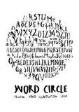 Alphabet doodle illustration circle form line sketch style eps10. Alphabet doodle illustration circle form line sketch style vector illustration