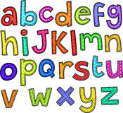 Alphabet Doodle Text Royalty Free Stock Photos