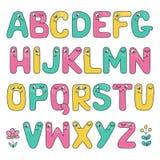 Alphabet drôle d'enfants avec des yeux Photographie stock