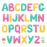 Alphabet drôle d'enfants avec des yeux Image stock