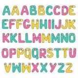 Alphabet drôle d'enfants avec des yeux Photographie stock libre de droits