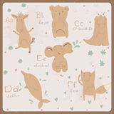 Alphabet drôle d'animaux pour des enfants. A à F Image libre de droits