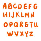The alphabet drawn by an oil paint Royalty Free Stock Images