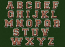 Alphabet du football Photo stock