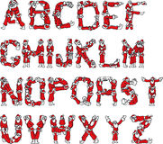 Alphabet du père noël Photographie stock