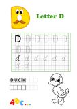 Alphabet, duck Stock Image
