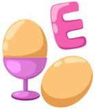 Alphabet  E for egg Stock Photos