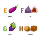 Alphabet E-H Lizenzfreie Stockbilder
