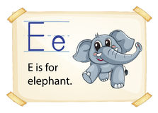 Alphabet E Stock Images