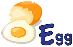 Alphabet E pour l'oeuf Photographie stock libre de droits