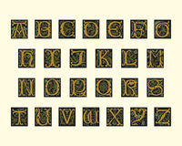 Alphabet of early 16th century Stock Image