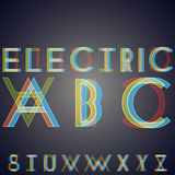 Alphabet with effect of  interference Royalty Free Stock Image
