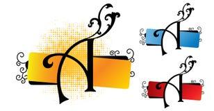 Alphabet ein Vektor Lizenzfreie Stockbilder