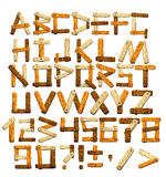 Alphabet en bambou Photographie stock libre de droits