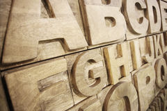 Alphabet en bois Photo libre de droits