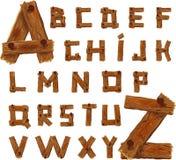 Alphabet en bois Photographie stock
