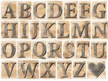 Alphabet en bois Images libres de droits