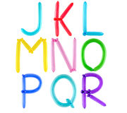 Alphabet en entier de ballon Images stock