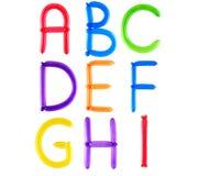 Alphabet en entier de ballon Image libre de droits
