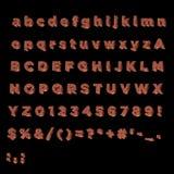 Alphabet en entier fait de cuivre Photos libres de droits