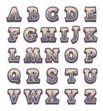 Alphabet en pierre gris de jeu Photographie stock libre de droits